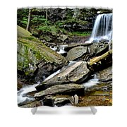 B Reynolds Falls Shower Curtain by Frozen in Time Fine Art Photography