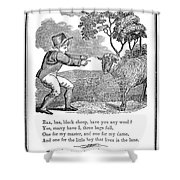 Baa, Baa, Black Sheep, 1833 Shower Curtain by Granger