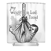 Baby Being Weighed, 1887 Shower Curtain