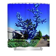 Baby Blue Tree Shower Curtain