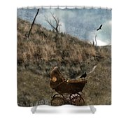Baby Buggy In Wilderness Shower Curtain