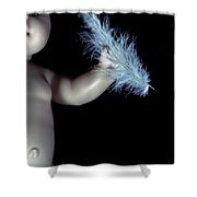Baby Doll With Feather Shower Curtain