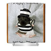 Baby Guinea Pig Trick Or Treat Shower Curtain