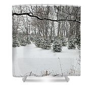 Baby Pines Shower Curtain