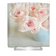 Baby Pink Roses Shower Curtain