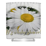 Baby Shower Invitation - Ox Eye Daisy Shower Curtain