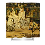 Bacchanal Shower Curtain by Sir Lawrence Alma-Tadema