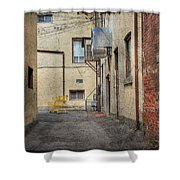 Back Alley Cityscape Shower Curtain