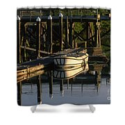 Back At The Harbor Shower Curtain