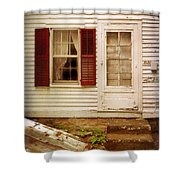 Back Door Of Old Farmhouse Shower Curtain