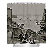 Back Door Of Venice Shower Curtain