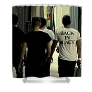 Back In Black Shower Curtain