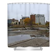Back Of Warehouse Cold Storage 1 Shower Curtain