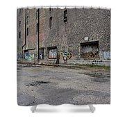 Back Of Warehouse Loading Dock Shower Curtain