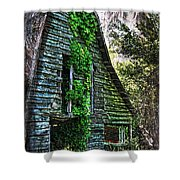 Back To Nature - Crumbling Barn Shower Curtain