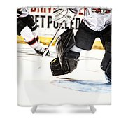 Back To The Crease Shower Curtain