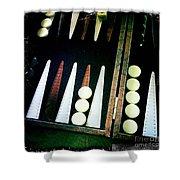 Backgammon Anyone Shower Curtain