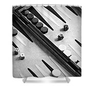 Backgammon Shower Curtain by Joana Kruse