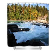 Backguard Falls On Fraser River In British Columbia Shower Curtain by Mark Duffy