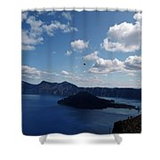 Backside Of Crater Lake Shower Curtain