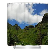 Backside Of The Napali Coast Shower Curtain