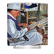 Backstrap Loom - Ecuador Shower Curtain