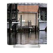 Backyard Waterway Shower Curtain
