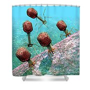 Bacteriophage T4 Virus Group 1 Shower Curtain