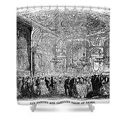 Baden-baden: Salon, 1858 Shower Curtain