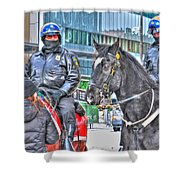 Badges And Horses Shower Curtain