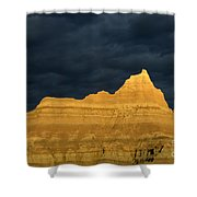 Badlands Early Light Shower Curtain