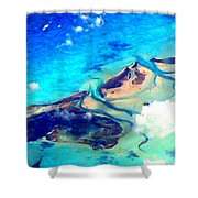 Bahama Out Island Filtered Shower Curtain