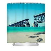 Bahia Hondas Railroad Bridge  Shower Curtain