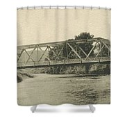 Bailey Bridge Over Willowemoc River Shower Curtain