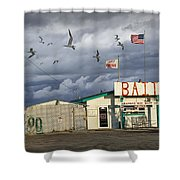 Bait Shop By Aransas Pass In Texas Shower Curtain