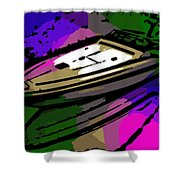 Baja Speed Boat Shower Curtain