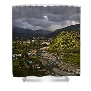 Bajo Boquete With Rio Caldera Shower Curtain