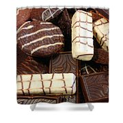 Baker - Who Wants Cookies Shower Curtain by Mike Savad