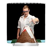 Baking Soda Volcano 3 Of 4 Shower Curtain