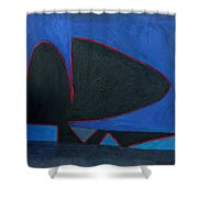 Balance Oil Paint Shower Curtain