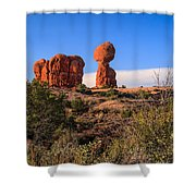 Balance Rock I Shower Curtain