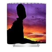 Balanced Rock Sunset Arches Nat.park Shower Curtain