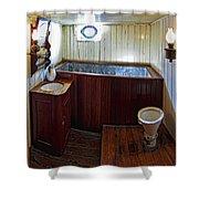 Balclutha Victorian Ship's Head Shower Curtain by Daniel Hagerman
