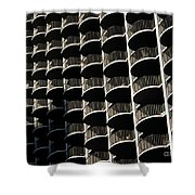 Balconies Bw Shower Curtain