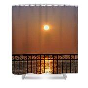 Balcony Sunrise Shower Curtain