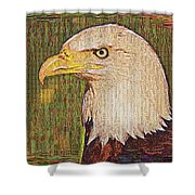 Bald Eagle Embroidered Shower Curtain