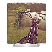 Bali Bike Shower Curtain