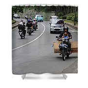 Balinese Transportation Shower Curtain