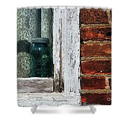 Ball Jar And Lace Shower Curtain