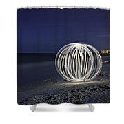 Ball Of Light Marco Island Beach Shower Curtain